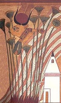 Hathor as a cow, from the papyrus of Ani