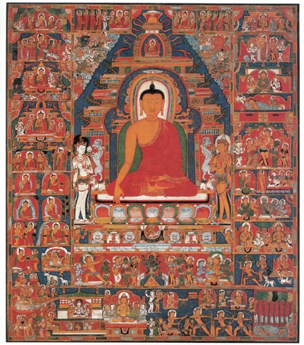 scenes from Buddha's life