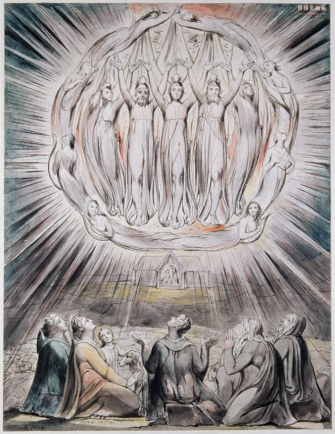 william blake angels appearing before shepherds