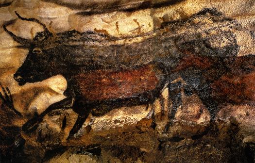 bull in lascaux cave