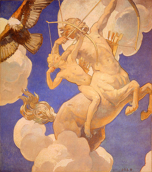 chiron and achilles by sargent
