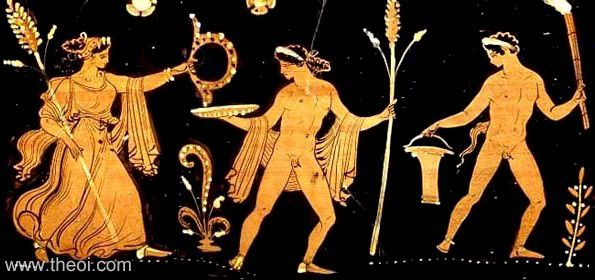 Dionysus with Maenad and Satyr