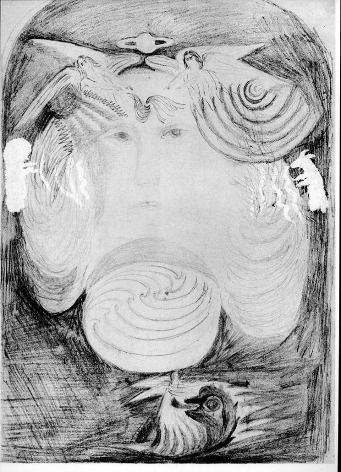 Rudolf Steiner pencil sketch