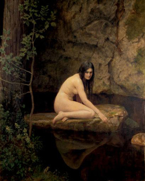 water nymph by John Collier