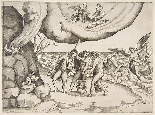 Giulio Bonasone Jupiter, Neptune and Pluto