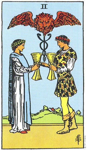 2 of cups by pixie