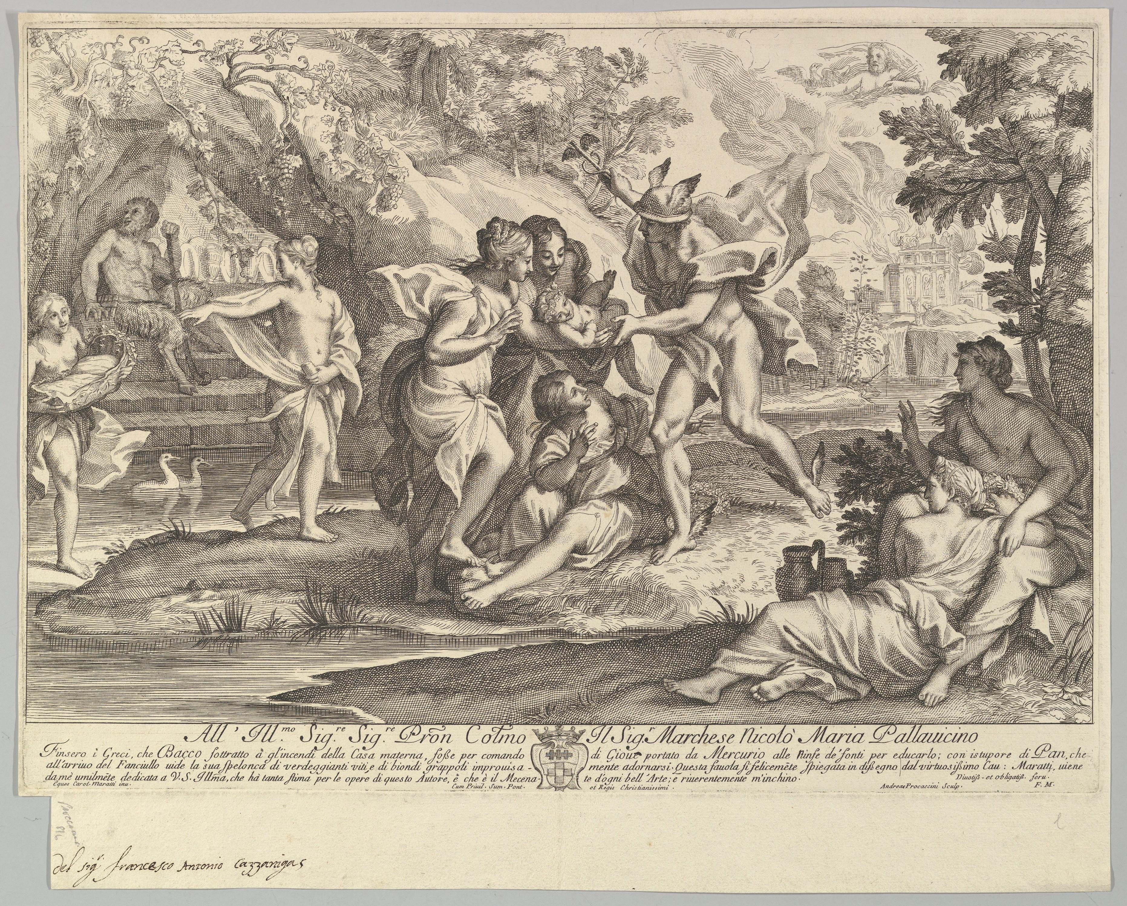 Mercury delivering Bacchus