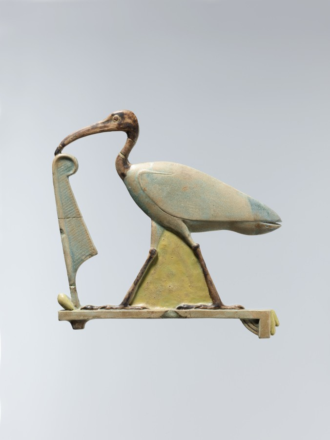 Thoth as Ibis with Maat feather