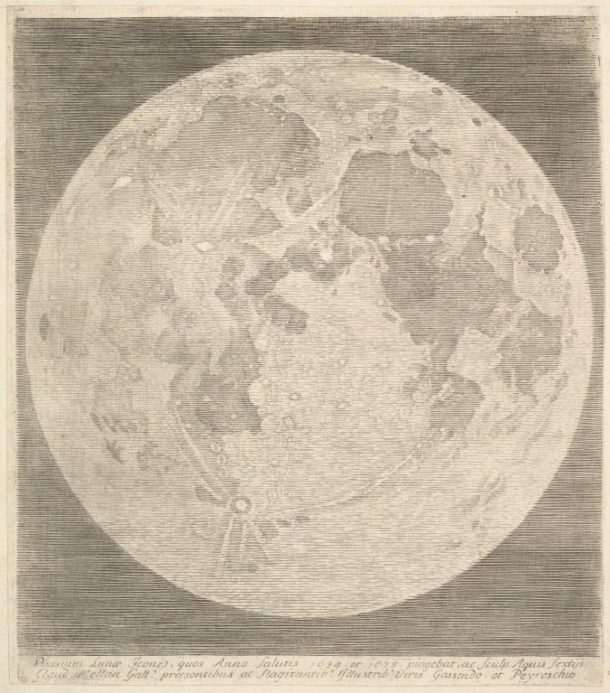 full moon etching claude mellan