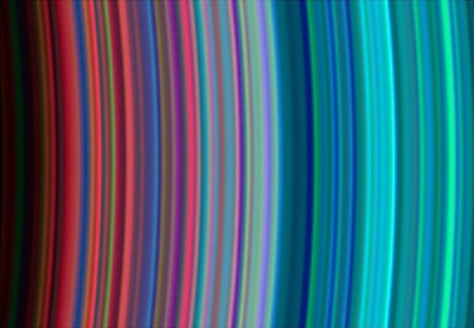 Saturn in Sagittarius infrared rings
