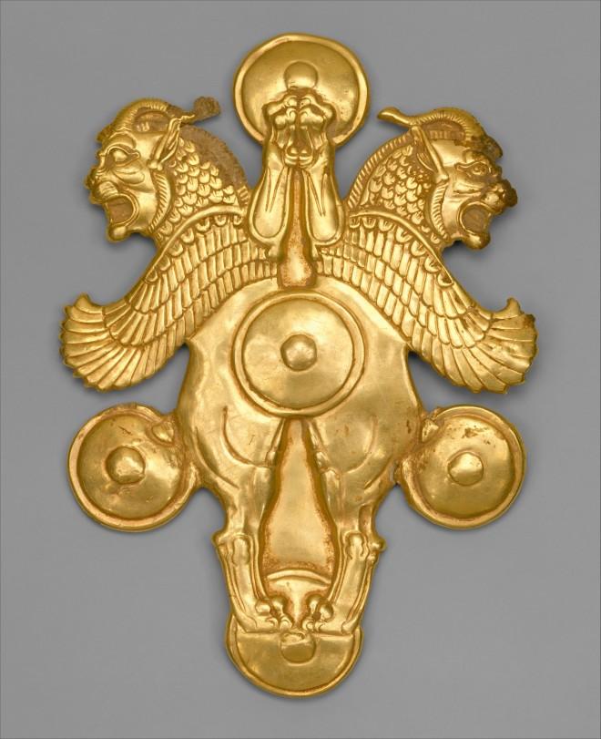 griffins horned in gold