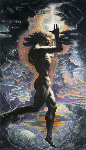"Jean Delville, ""Prometheus"""