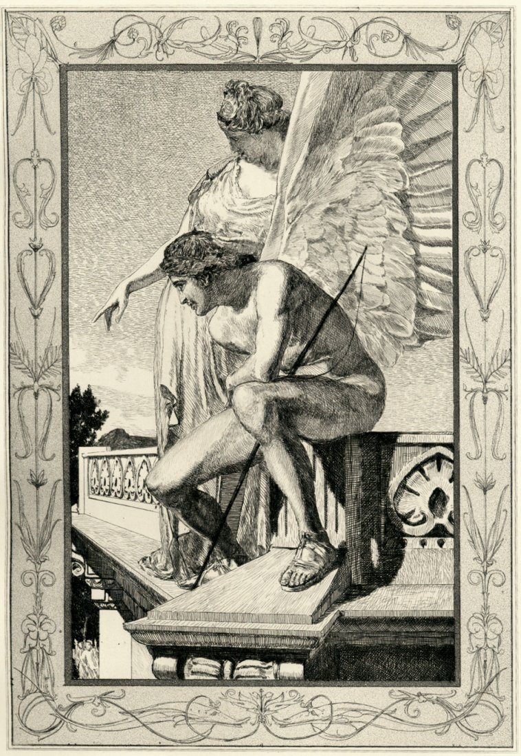 Amor and Psyche by Max Klinger