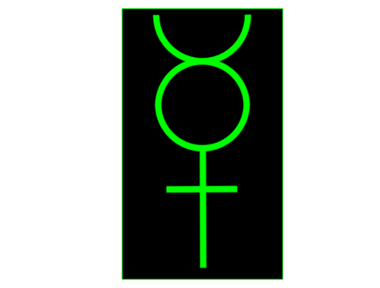 Mercury-Alchemical Symbol green