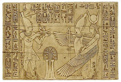 Isis and Osiris in temple of Isis