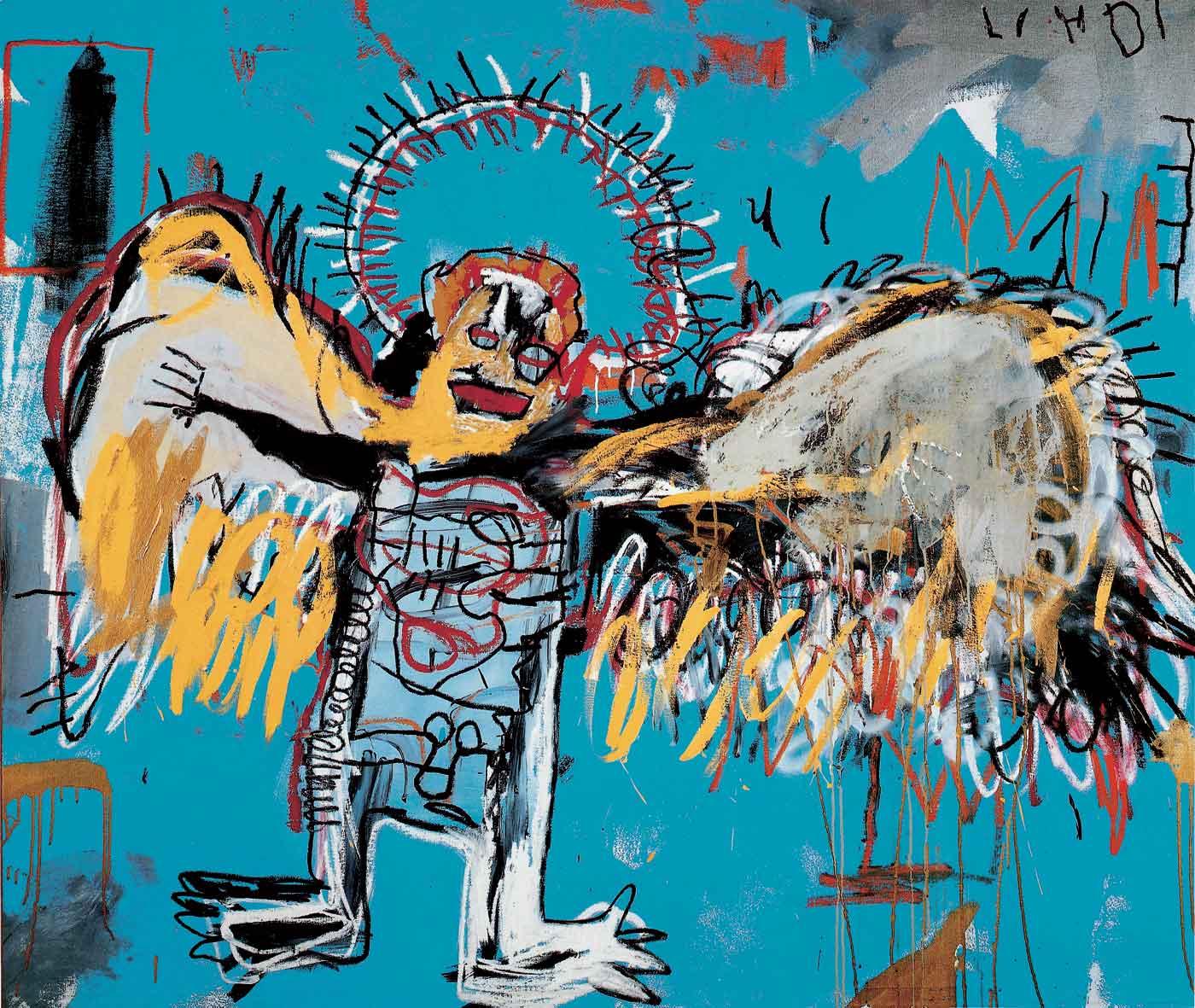 Full Moon in Sagittarius Angel by Basquiat