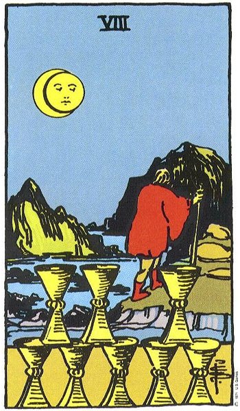 First Face of Pisces 8 of Cups