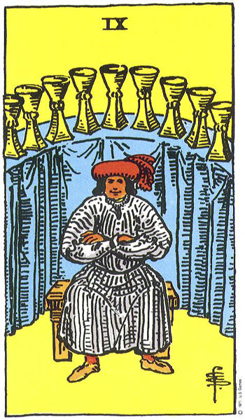 Second Decan of Pisces 9 of Cups
