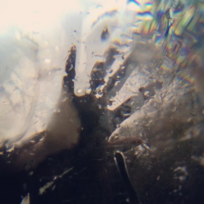 Sarah Hansen blurry hand