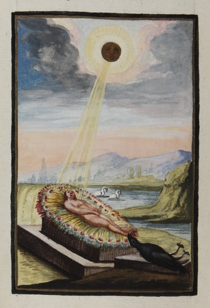 eclipse From Compendiolum de praeparatione auri potabilis veri, attributed to M[arcus] E[ugenius] Bonacina, ca. 1790