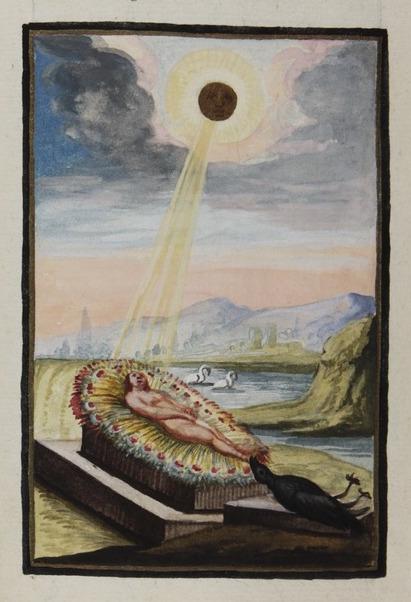 eclipse From Compendiolum de praeparatione auri potabilis veri, attributed to M[arcus] E[ugenius] Bonacina, ca. 1790