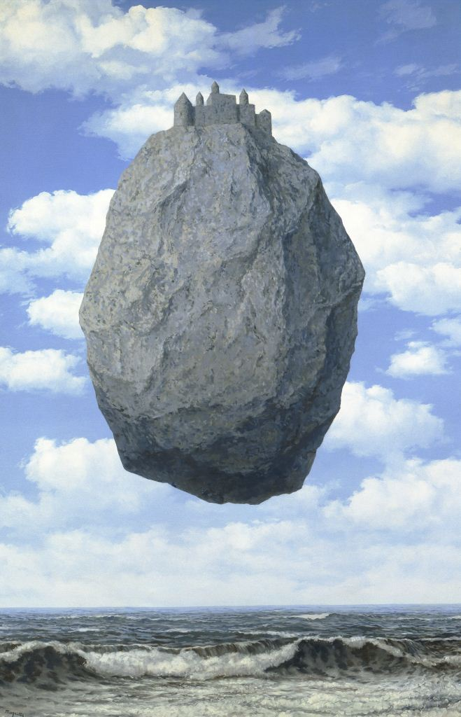 René-Magritte-The-Castle-of-the-Pyrenees-1959-The-Israel-Museum