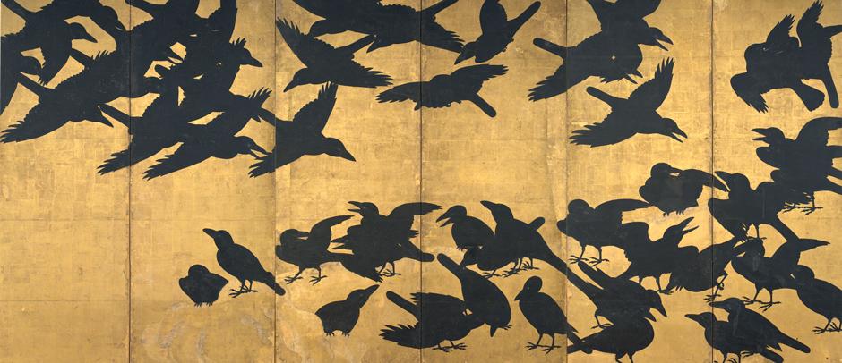 Crow Screen, Asian Art Museum