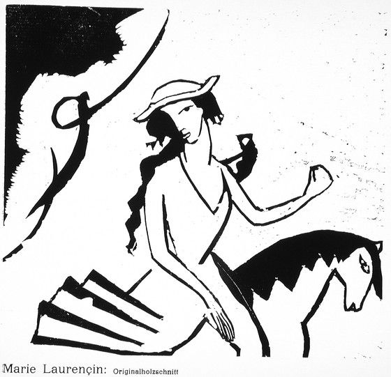 marie laurencin the amazon close up
