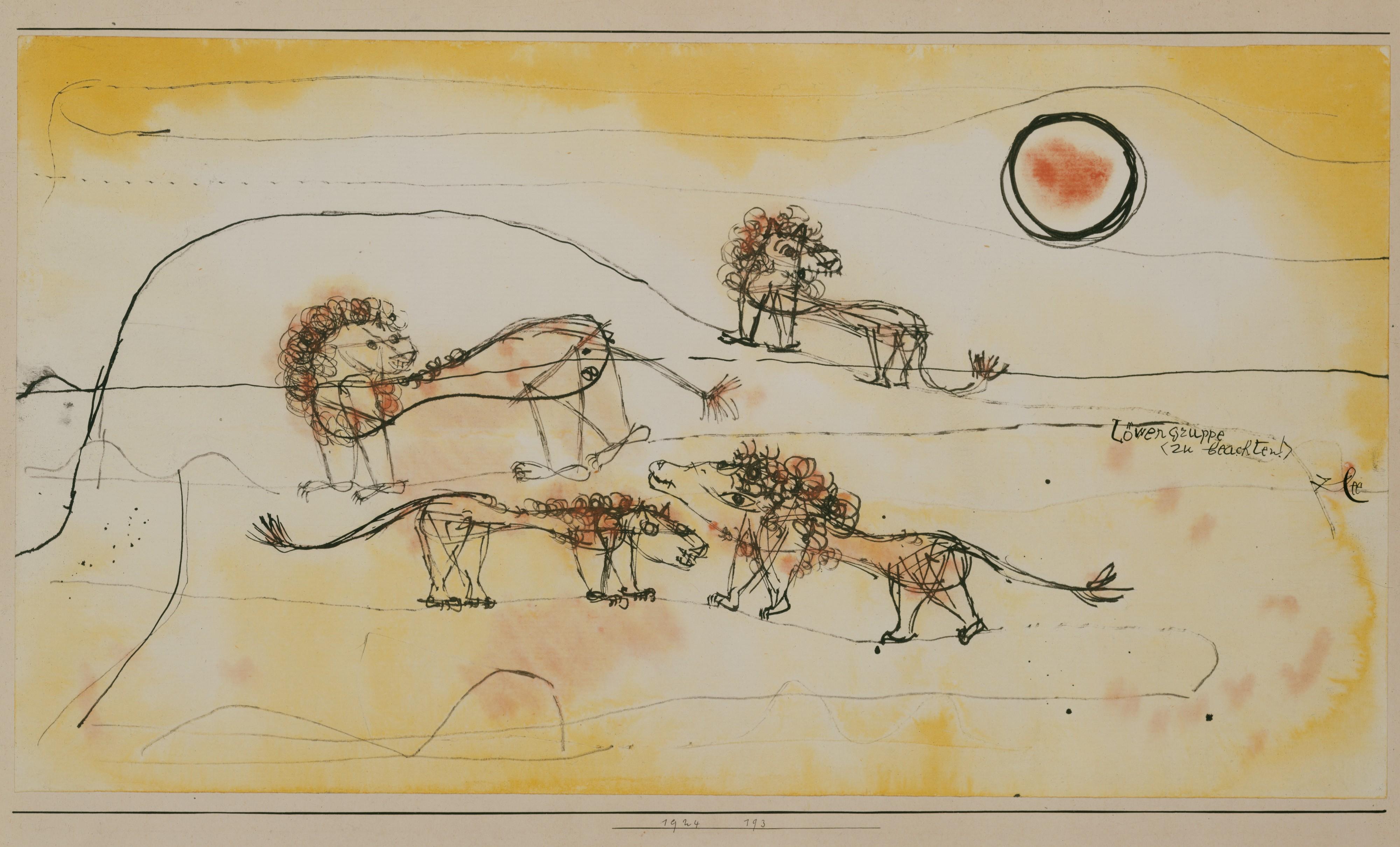 Paul Klee Pride of Lions
