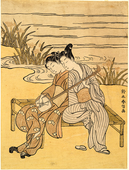 two lovers japanese print