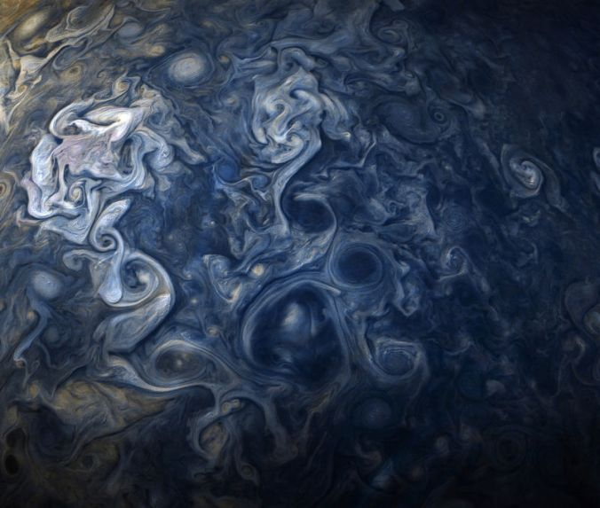 Jupiter clouds by NASA