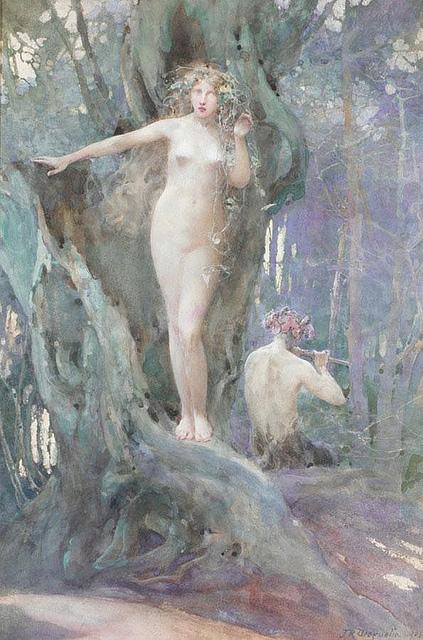 John_Reinhard_Weguelin_–_The_Magic_of_Pan's_Flute_(1905)