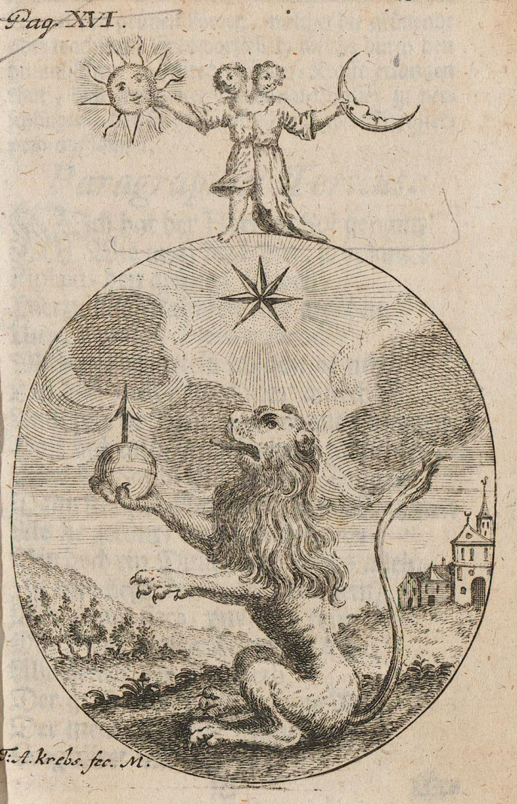 Lion Hermetic Child of Sun and Moon