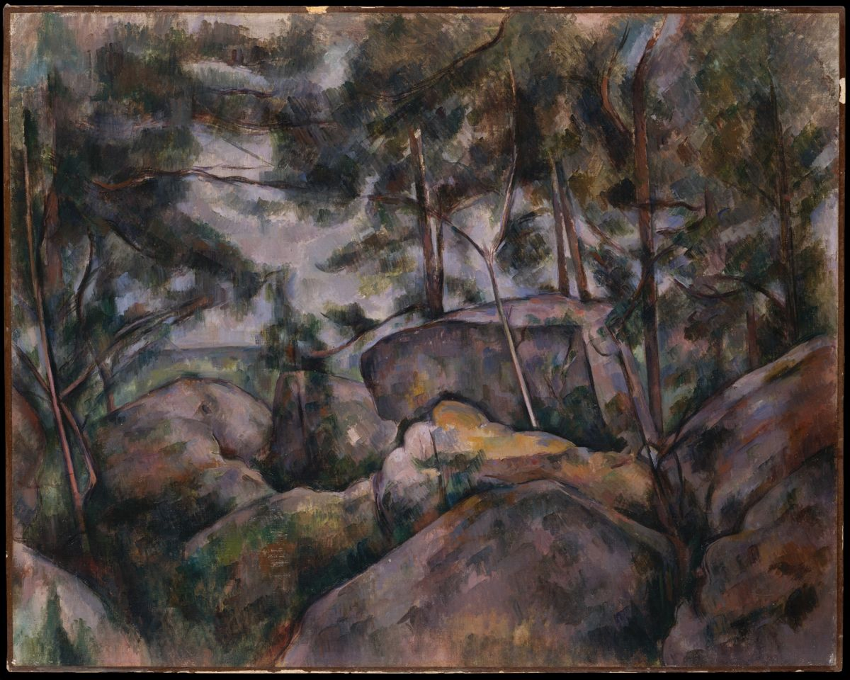 cezanne rocks in forest