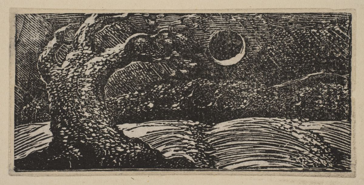 William Blake blasted tree and moon