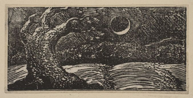 William Blake blasted tree and moon