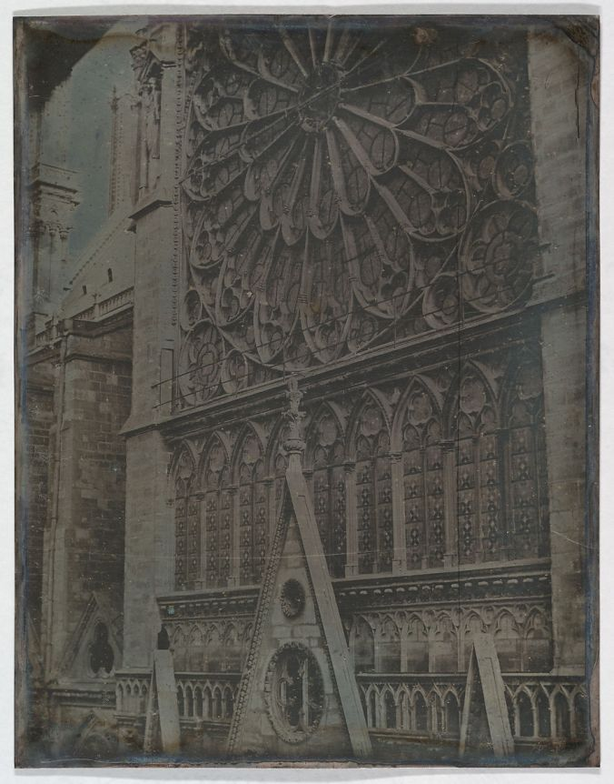 Notre Dame cathedral rose window dageurreotype