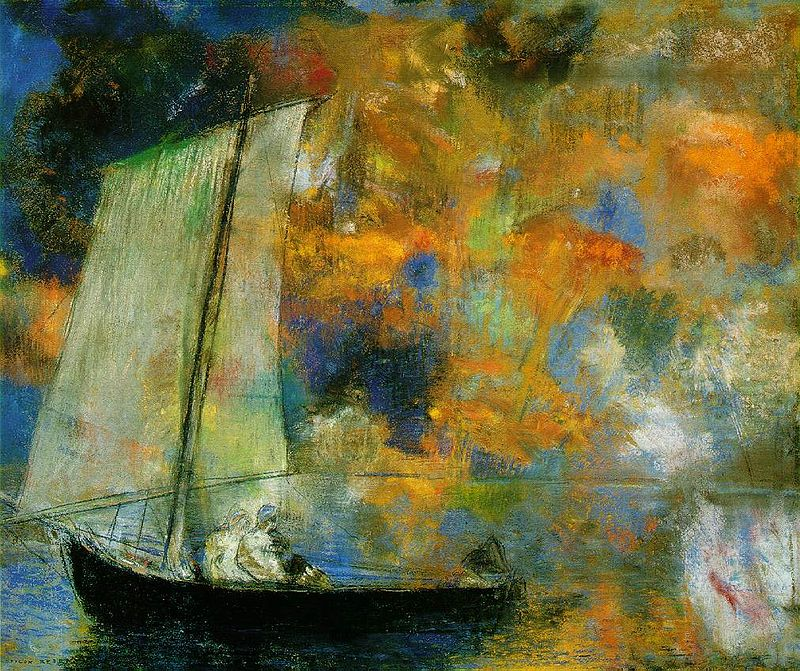 Odilon Redon flower-clouds