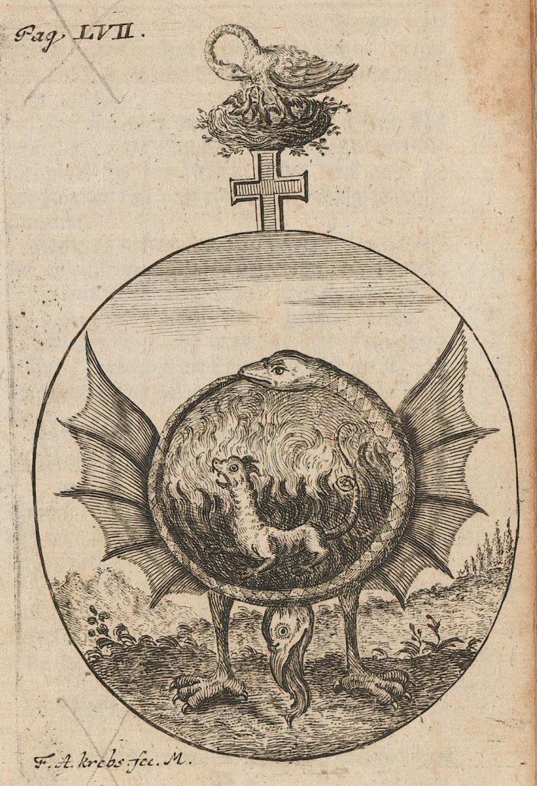 Dragon ouroboros Hermetic Sun and Moon