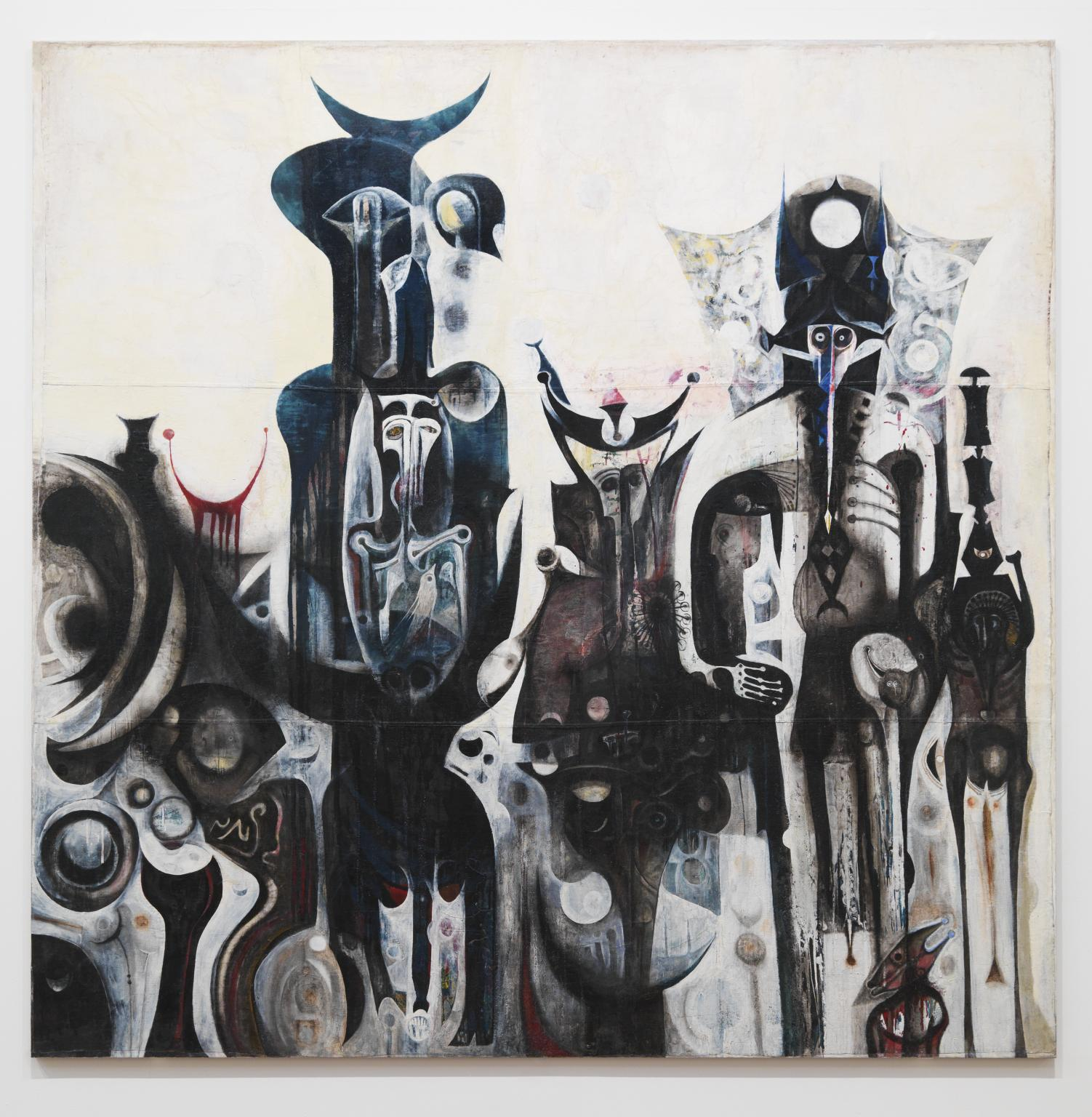 Reborn Sounds of Childhood Dreams I 1961-5 by Ibrahim El-Salahi born 1930