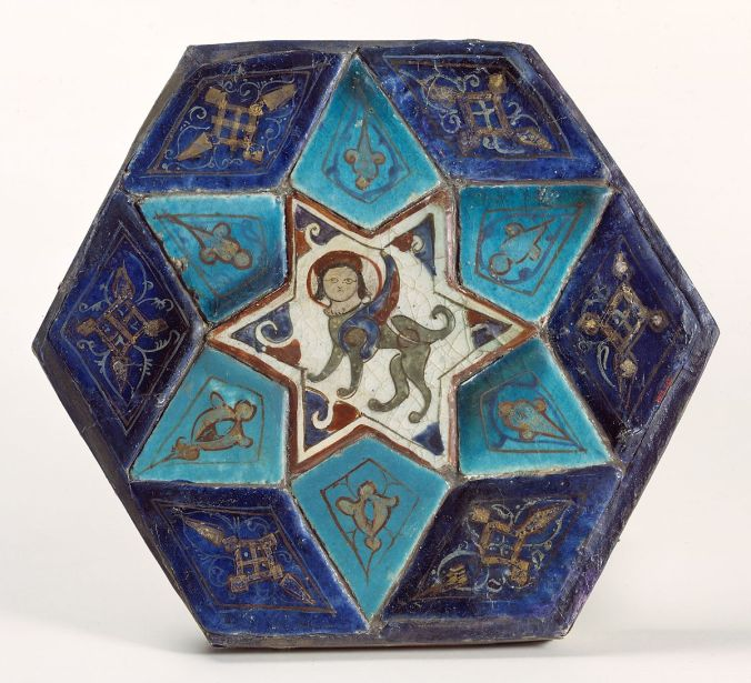 hexagonal tile with sphinx.jpg