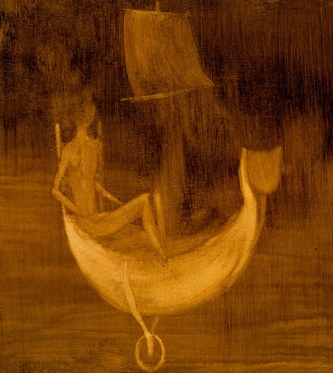 Remedios Varo-Personaje-En-Lancha-1957