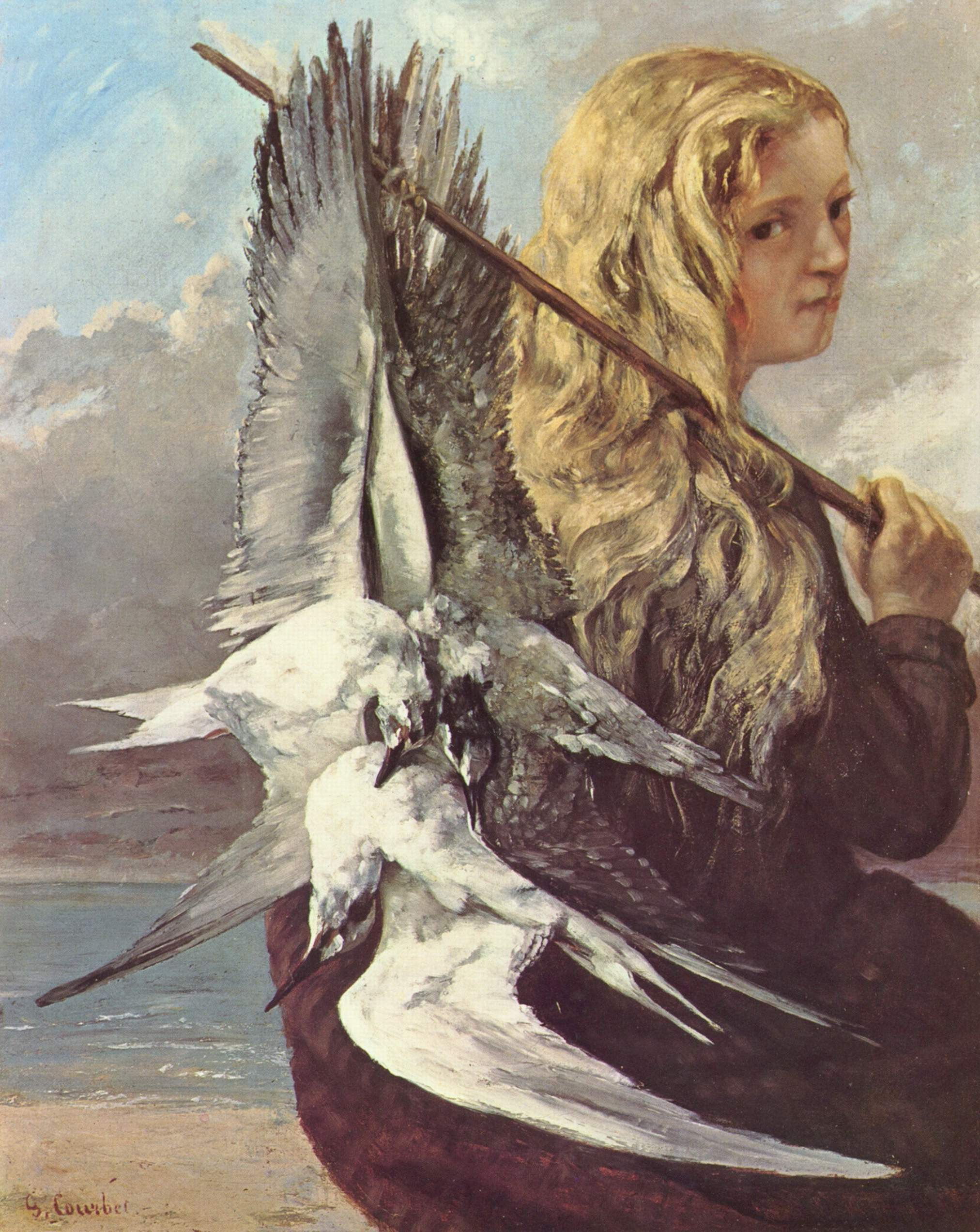 Gustave_Courbet_girl with seagull