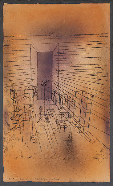paul klee ghost chamber with tall door