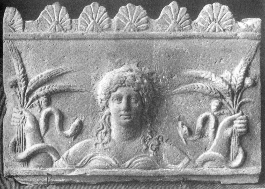 Ceres with snakes