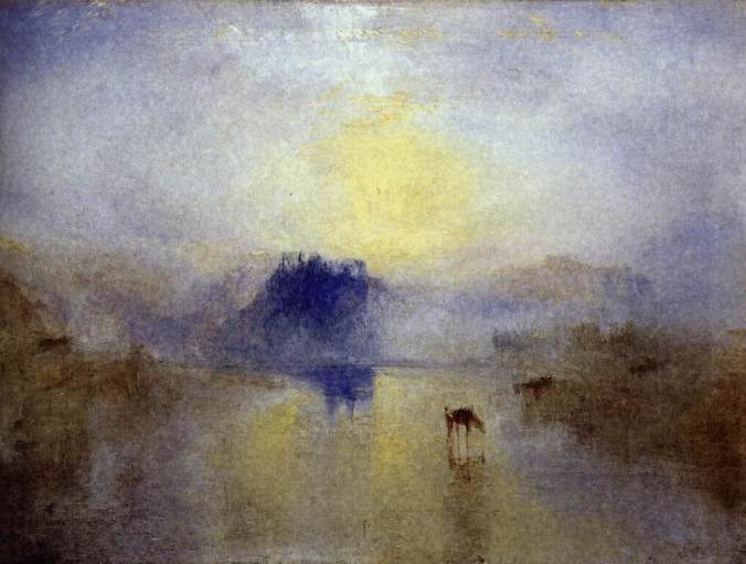 jmw turner norham castle, sunrise