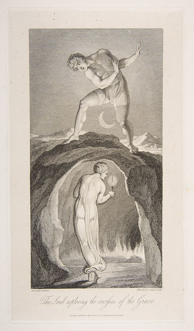 william blake the soul exploring the recesses of the grave