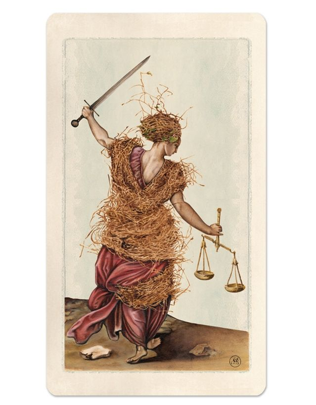 Justice Pagan Otherworlds Tarot