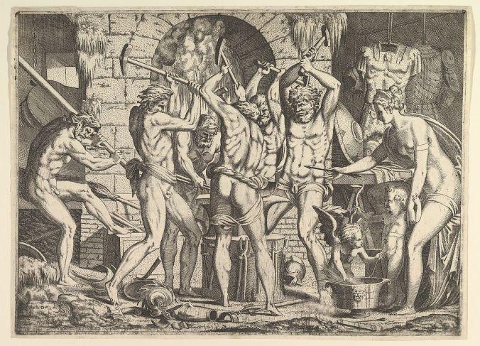 Venus in Vulcan's forge