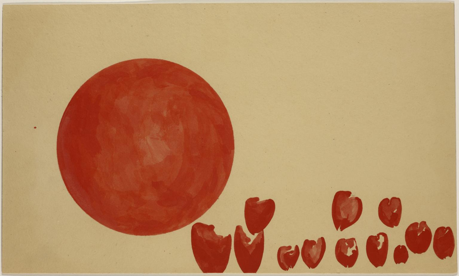 Hearts of the Revolutionaries: Passage of the Planets of the Future 1955 by Joseph Beuys